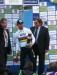 Mark Cavendish on podium